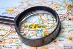 Antwerpen on the Europe map