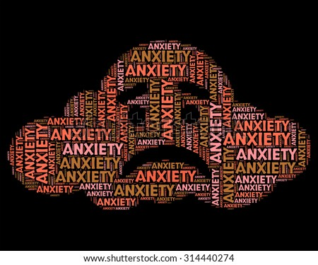 Anxiety Word Representing Tension Uneasiness And Angst