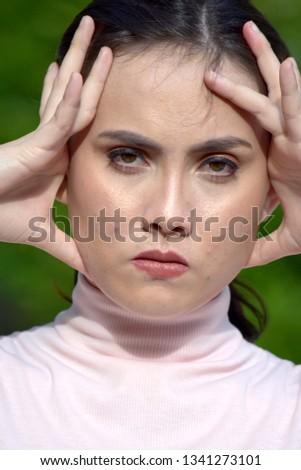 Anxious Beautiful Minority Female
