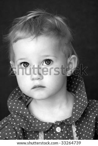 anxious looking girl