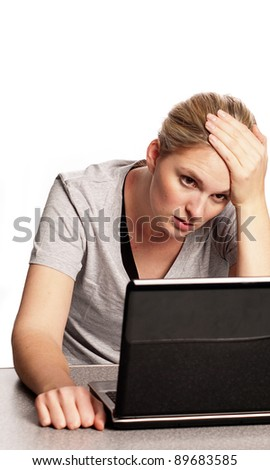 Anxious woman - stock photo