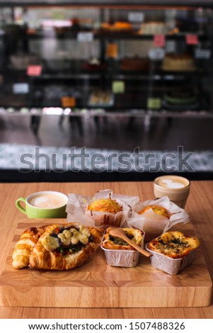 any kind of savouries snacks with coffee on the side