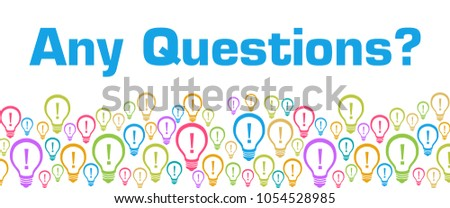 Any questions text written over colorful background. Foto stock ©