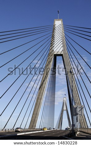Anzac Bridge, Sydney, Australia: ANZAC Bridge is the longest cable-stayed bridge in Australia, and amongst the longest in the world.