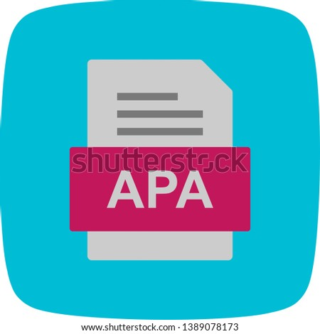 APA File Document Icon In Trendy Style Isolated Background Stok fotoğraf ©