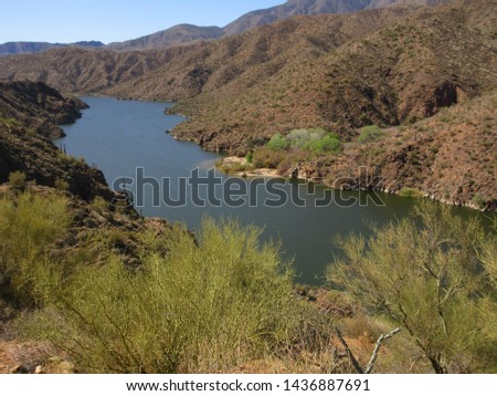 Apache Trail views, Route 88, Arizona