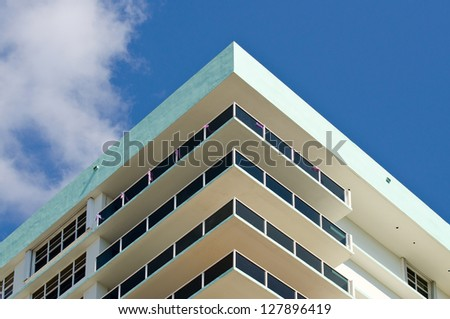 Apartment Balconies - Corner section - stock photo