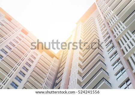 apartment building , vintage tone #524241556