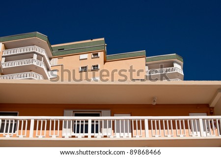 Apartment building with balconies