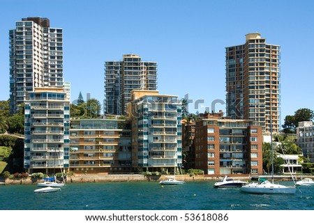 City Lightning Apartment Buildings Harbour