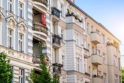 apartment buildings in Berlin, Germany Prenzlauer Berg District