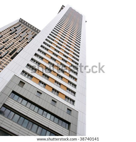 Apartment buildings isolated over white background