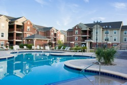 Apartment complex with beautiful swiming pool