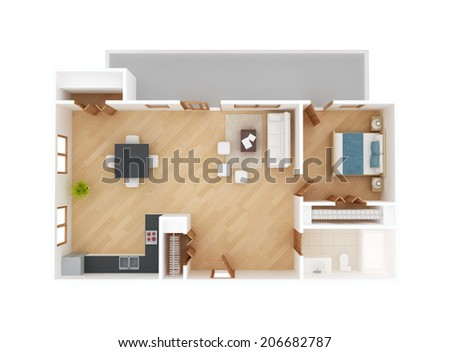 Apartment floor plan top view isolated on white stock for Apartment stock plans