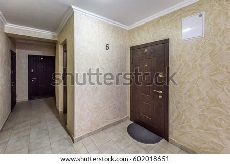 Beau Apartment 21 Front Door Near Elevator, View From Hallway, Chisinau, Moldova  #602018651