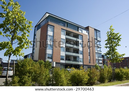 Apartment house in Finland
