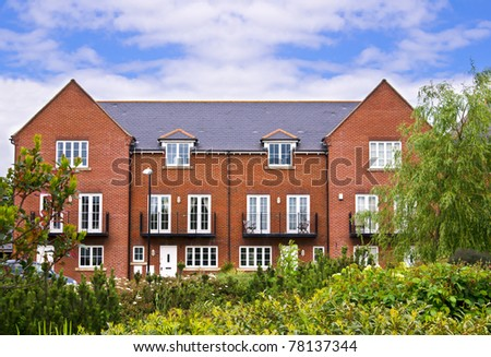 Apartment house made of red brick