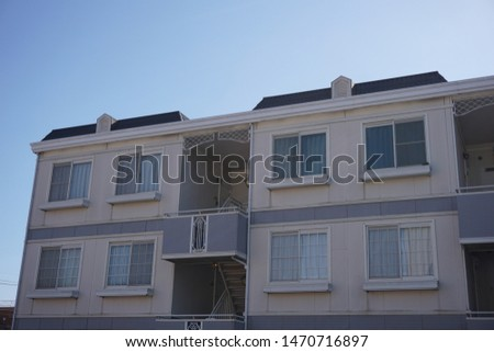 Apartment in a residential area in Japan #1470716897