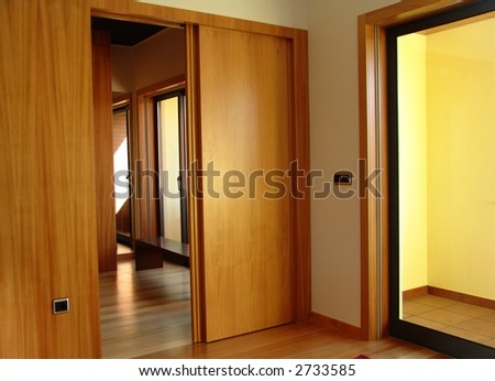 apartment, interior, door, house, residential, wood, design