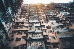 Apartments building in Hongkong, China