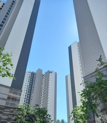 Apartments in Seoul, Korea. Houses. Realestates. High rise