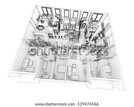 Apartments level top view building design process in for Apartment design process