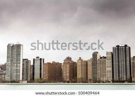 Apartments on Lake Shore Drive - stock photo