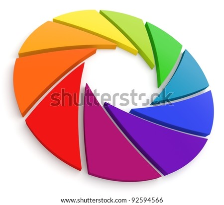 Aperture Color Wheel 3D. See my portfolio for more color wheels.