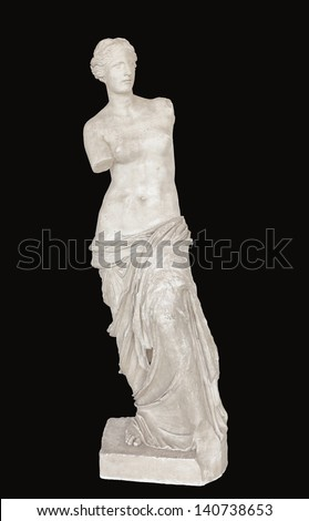 Aphrodite (or Venus) of Milos statue found at the Louvre museum in Paris