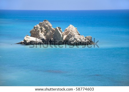 Aphrodite rock in Cyprus