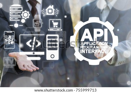 API - Application Programming Interface Service Business concept.