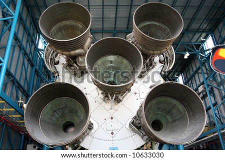 Apollo Saturn V Rocket at Kennedy Space Centre Florida