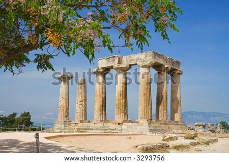 Apollo Temple in Corinth, Greece
