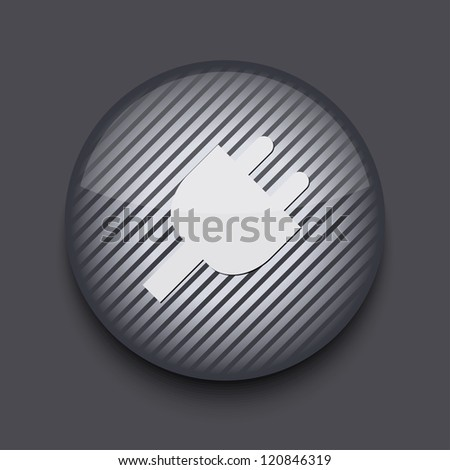 app circle striped icon on gray background