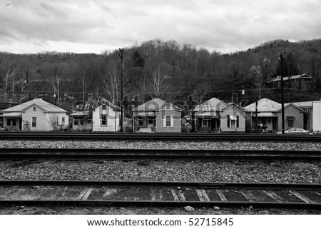 Appalachia Virginia homes and railroad track