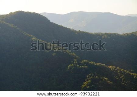 Appalachian Mountains along the Blue Ridge Parkway