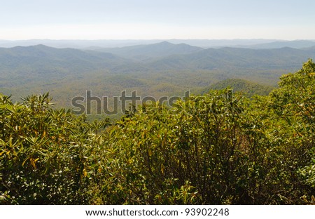Appalachian Mountains along the Blue Ridge Parkway