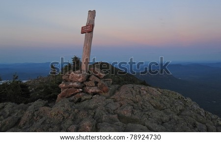 Appalachian Trail in Maine - stock photo