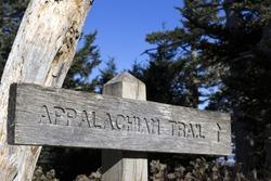 Appalachian Trail wooden sign