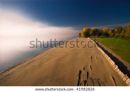 appearance of fog as a beautiful natural phenomenon