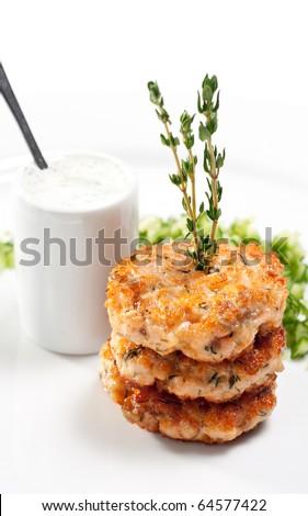 Appetizer - Mini Salmon Steak with Cucumber Fresh