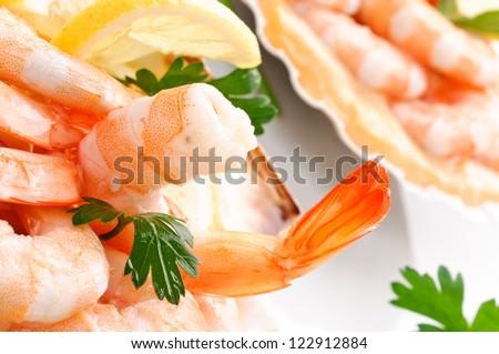 Appetizer of shrimps