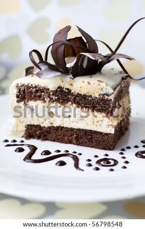 Appetizing cake - stock photo