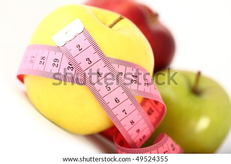 Apple and a measure tape