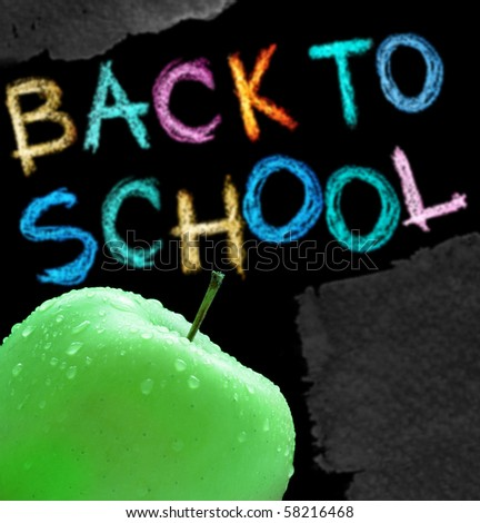 Apple and back to school text