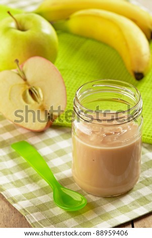 apple and banana puree