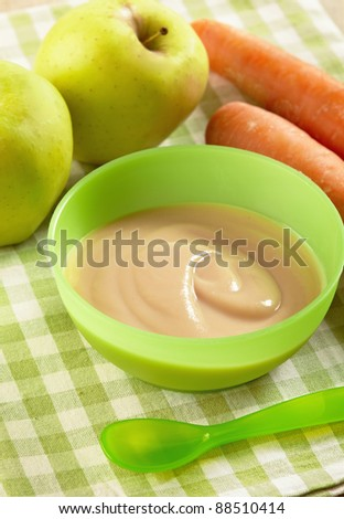 apple and carrot puree