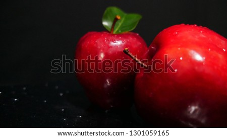 Apple and leaf for fruit photoshoot