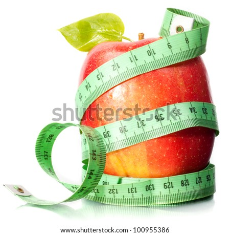 Shutterstock Apple and measurement. A slender figure.