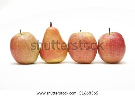 apple and pear row